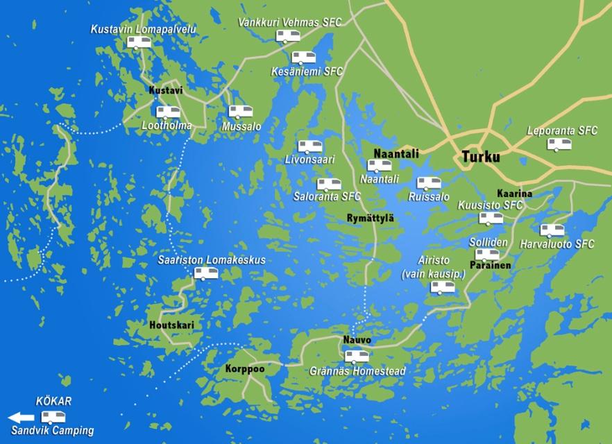 Kartta Turun Saaristo Kustavi Korppoo Avh Caravan Blog